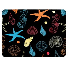 Seahorse Starfish Seashell Shell Samsung Galaxy Tab 7  P1000 Flip Case by Nexatart