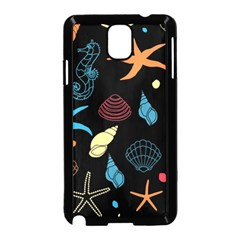Seahorse Starfish Seashell Shell Samsung Galaxy Note 3 Neo Hardshell Case (black)