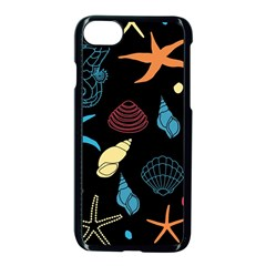 Seahorse Starfish Seashell Shell Apple Iphone 7 Seamless Case (black) by Nexatart
