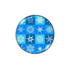Seamless Blue Snowflake Pattern Hat Clip Ball Marker