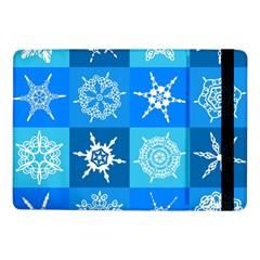 Seamless Blue Snowflake Pattern Samsung Galaxy Tab Pro 10.1  Flip Case by Nexatart