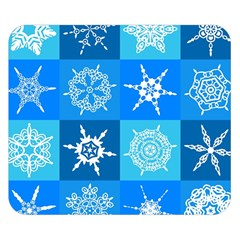 Seamless Blue Snowflake Pattern Double Sided Flano Blanket (small)  by Nexatart