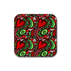Seamless Tile Background Abstract Rubber Square Coaster (4 Pack)