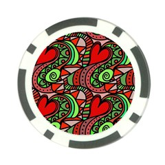 Seamless Tile Background Abstract Poker Chip Card Guard