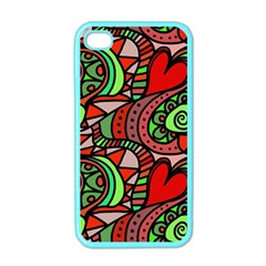 Seamless Tile Background Abstract Apple Iphone 4 Case (color)
