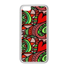 Seamless Tile Background Abstract Apple Iphone 5c Seamless Case (white)