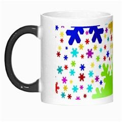 Seamless Snowflake Pattern Morph Mugs