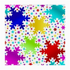 Seamless Snowflake Pattern Medium Glasses Cloth (2 Side) by Nexatart