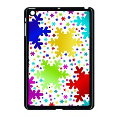 Seamless Snowflake Pattern Apple Ipad Mini Case (black)