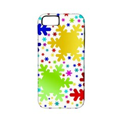 Seamless Snowflake Pattern Apple Iphone 5 Classic Hardshell Case (pc+silicone)