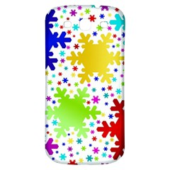 Seamless Snowflake Pattern Samsung Galaxy S3 S Iii Classic Hardshell Back Case