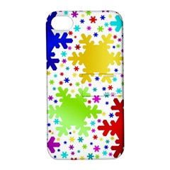 Seamless Snowflake Pattern Apple Iphone 4/4s Hardshell Case With Stand