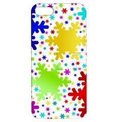 Seamless Snowflake Pattern Apple Iphone 5 Hardshell Case With Stand by Nexatart