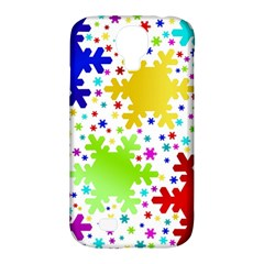 Seamless Snowflake Pattern Samsung Galaxy S4 Classic Hardshell Case (pc+silicone)