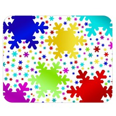 Seamless Snowflake Pattern Double Sided Flano Blanket (medium)
