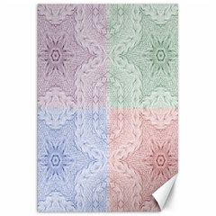 Seamless Kaleidoscope Patterns In Different Colors Based On Real Knitting Pattern Canvas 20  X 30