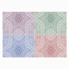 Seamless Kaleidoscope Patterns In Different Colors Based On Real Knitting Pattern Large Glasses Cloth (2 Side)