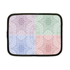 Seamless Kaleidoscope Patterns In Different Colors Based On Real Knitting Pattern Netbook Case (small)