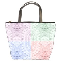 Seamless Kaleidoscope Patterns In Different Colors Based On Real Knitting Pattern Bucket Bags