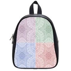 Seamless Kaleidoscope Patterns In Different Colors Based On Real Knitting Pattern School Bags (small)  by Nexatart