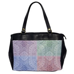 Seamless Kaleidoscope Patterns In Different Colors Based On Real Knitting Pattern Office Handbags