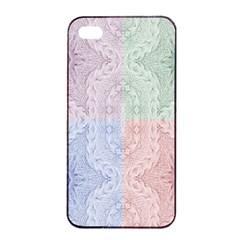 Seamless Kaleidoscope Patterns In Different Colors Based On Real Knitting Pattern Apple Iphone 4/4s Seamless Case (black)