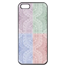 Seamless Kaleidoscope Patterns In Different Colors Based On Real Knitting Pattern Apple Iphone 5 Seamless Case (black)