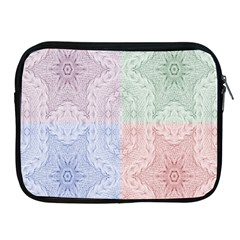 Seamless Kaleidoscope Patterns In Different Colors Based On Real Knitting Pattern Apple Ipad 2/3/4 Zipper Cases