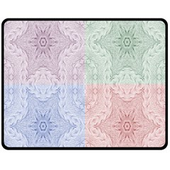 Seamless Kaleidoscope Patterns In Different Colors Based On Real Knitting Pattern Double Sided Fleece Blanket (medium)  by Nexatart
