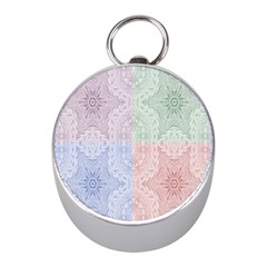 Seamless Kaleidoscope Patterns In Different Colors Based On Real Knitting Pattern Mini Silver Compasses by Nexatart