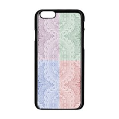 Seamless Kaleidoscope Patterns In Different Colors Based On Real Knitting Pattern Apple Iphone 6/6s Black Enamel Case