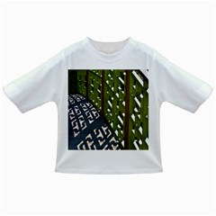 Shadow Reflections Casting From Japanese Garden Fence Infant/toddler T Shirts