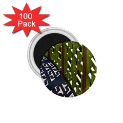 Shadow Reflections Casting From Japanese Garden Fence 1 75  Magnets (100 Pack)