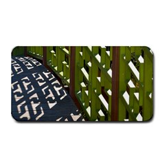 Shadow Reflections Casting From Japanese Garden Fence Medium Bar Mats