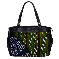Shadow Reflections Casting From Japanese Garden Fence Office Handbags