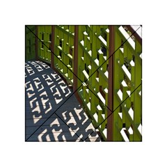 Shadow Reflections Casting From Japanese Garden Fence Acrylic Tangram Puzzle (4  X 4 )
