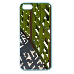 Shadow Reflections Casting From Japanese Garden Fence Apple Seamless Iphone 5 Case (color) by Nexatart