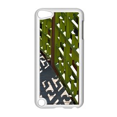Shadow Reflections Casting From Japanese Garden Fence Apple iPod Touch 5 Case (White)