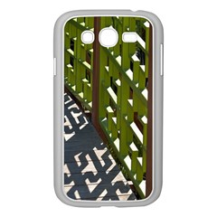 Shadow Reflections Casting From Japanese Garden Fence Samsung Galaxy Grand Duos I9082 Case (white)