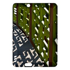 Shadow Reflections Casting From Japanese Garden Fence Kindle Fire HDX Hardshell Case by Nexatart