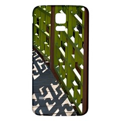 Shadow Reflections Casting From Japanese Garden Fence Samsung Galaxy S5 Back Case (white)