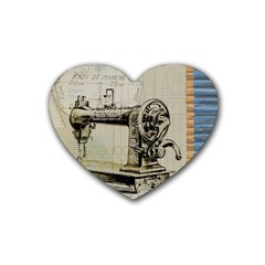 Sewing  Rubber Coaster (heart)