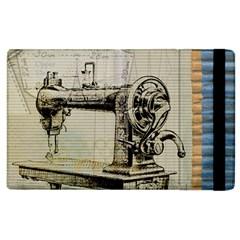 Sewing  Apple iPad 2 Flip Case by Nexatart