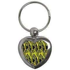 Seamless Pattern Background Seamless Key Chains (heart)  by Nexatart