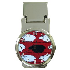 Sheep Money Clip Watches by Nexatart