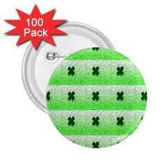 Shamrock Pattern 2 25  Buttons (100 Pack)