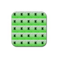 Shamrock Pattern Rubber Square Coaster (4 Pack)