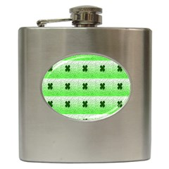Shamrock Pattern Hip Flask (6 Oz) by Nexatart