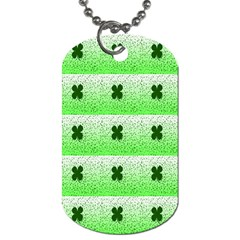 Shamrock Pattern Dog Tag (two Sides)