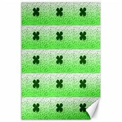 Shamrock Pattern Canvas 24  X 36